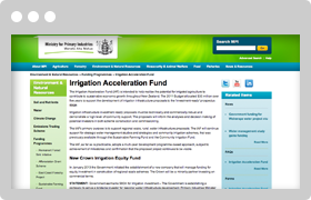 Irrigation Acceleration Fund